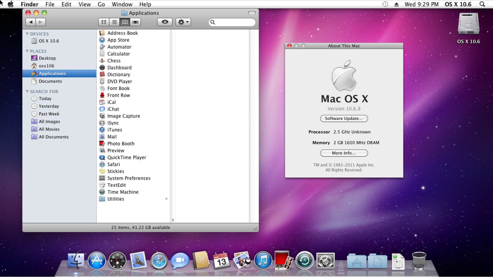 Mac OS X 10.6 Snow Leopard license